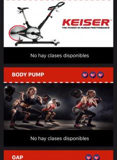 Nueva app disponible para la reserva de clases